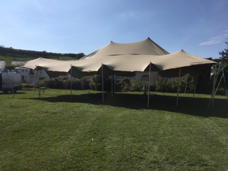 Stretch tent, Porthleven food festival