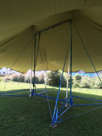 Childrens tent, trapeze workshops!