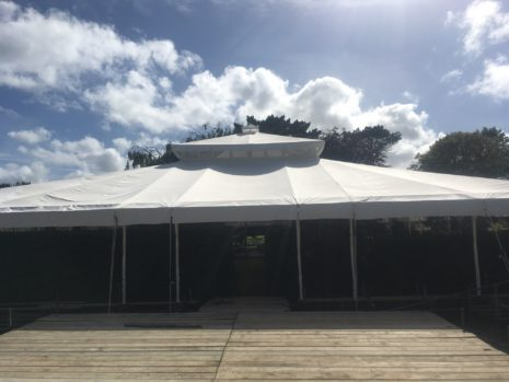 Indian summer wedding tent. Cornish Wedding.
